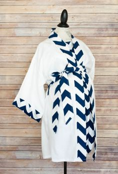 Maternity Hospital Delivery Gown in Navy Chevron Super by modmum, $64.00