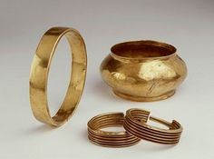 various gold arm bands from ancient Egypt