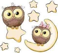 Nursery Stickers, Baby Owl Decals, Vinyl Wall Decal, Vinyl Graphics, Wall Stickers, Owls, Infinite Graphics, Baby's Room Decor, Cartoon Owls by 1InfiniteGraphics on Etsy #NurseryStickers