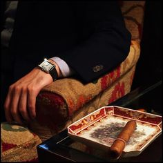 The Lord Edward - xrxxxx:   Cartier tank. (at Red Chamber Cigar...