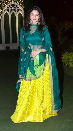 Alia Bhatt spotted in Cool green dress in her friends wedding