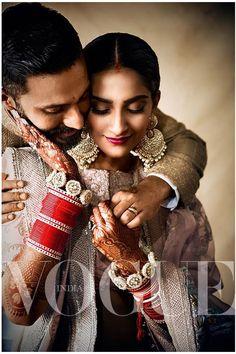 Sonam Kapoor Wedding Inspiration By Vogue India Indian Wedding Couple Photography, Indian Wedding Photos, Big Fat Indian Wedding, Indian Wedding Outfits, Bridal Photography, Indian Weddings, Wedding Pictures, Wedding Dresses, Photography Ideas