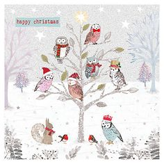 Buy Hammond Gower Owls in Tree Cards, Pack of 5 Online at johnlewis.com