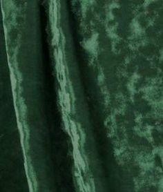 Hunter Green Crushed Stretch Velvet Fabric - $11.4 | onlinefabricstore.net