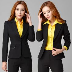 2014 High Class Best Selling Business Office Suits for Women Work Wear Fashion Women Clothing Coat +Pants Free Shipping S-XXXL(China (Mainla...