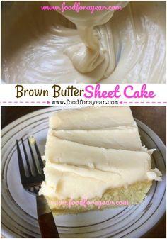 Brown Butter Sheet Cake A yummy twist on Texas Sheet Cake