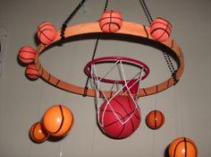 Basketball Room Decor  Hanging Mobile by LIGHTINGMOBILESNMORE, $35.88