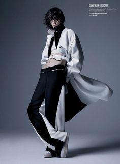 Calvin Klein Collection (Zlata Mangafic by Sølve Sundsbø for V Magazine Winter 2013-2014)