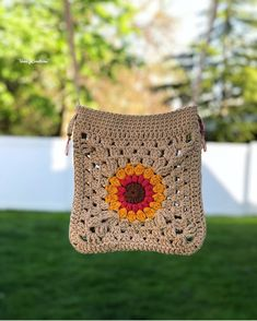Crochet Wallet, Crochet Tote, Crochet Cross, Crochet Handbags, Crochet Purses, Diy Crochet, Granny Square Häkelanleitung, Granny Square Crochet Pattern, Crochet Stitches Patterns
