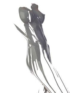 Playful Splashes of Paint Reveal Human Forms – Fubiz Media Geisha Kunst, Geisha Art, Dark Fantasy Art, Banksy Stencil, Pop Art Drawing, Mannequin Art, Underwater Art, Laser Art, Cyberpunk Art