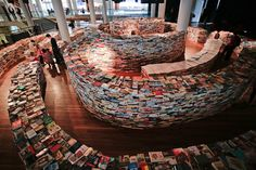 aMAZEmebyMarcos Saboya and Gualter Pupois is a labyrinth which contains250,000 used and new books created in part for the London 2012 festival.