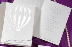 Hot Air Balloon Wedding Invitations Set by Birchcraft