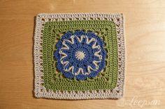 """Week 3 Starburst Flower 9"""" Square ~ free pattern"""