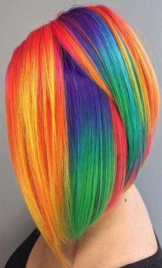 Hair highlight ideas 2019 kids hair color, pretty hair color, cute hair c. Kids Hair Color, Vivid Hair Color, Cute Hair Colors, Pretty Hair Color, Beautiful Hair Color, Hair Dye Colors, Rainbow Hair Colors, Pelo Multicolor, Rides Front