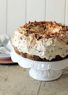 Carrot Cake with Pecan Cream Cheese Frosting