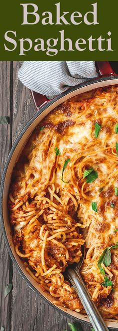 Low Unwanted Fat Cooking For Weightloss Baked Spaghetti Recipe The Mediterranean Dish A Hearty Baked Spaghetti Casserole With A Lighter Cheese Mixture And The Best Homemade Spaghetti Sauce. Casserole Spaghetti, Pasta Casserole, Casserole Recipes, Pasta Recipes, Dinner Recipes, Cooking Recipes, Casserole Ideas, Chicken Recipes, Italian Dishes