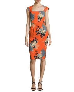 Magalie Floral-Print Sheath Dress