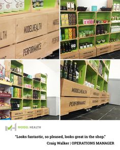 Bespoke retail display for model health cafe