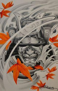 Samurai mempo... by Elvin Yong https://www.facebook.com/Elvintattooart