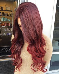 Hair color red rust