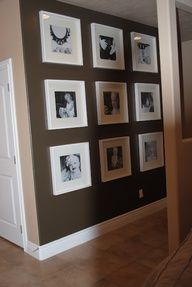 dark wall light picture frame - Google Search