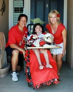 Dominic Cumo, 8, a part-time Palm Desert resident who has ALS, shares many adventures with his parents Matteo Bateman and Shawnee Cumo and his therapy dog, Kipper.