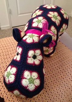 Crochet hippo.