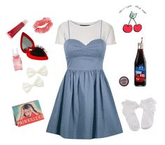 """""""#10"""" by kathryn-karina ❤ liked on Polyvore featuring Topshop, Forever 21, Hard Candy, DuWop, vintage, cute, girly, pinup and nymphet"""