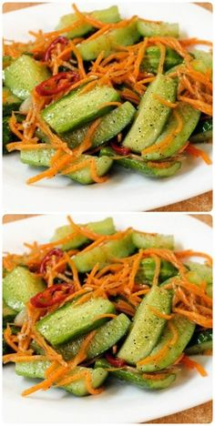 Blue Food, Party Buffet, Korean Food, Food Dishes, Feta, Green Beans, Salad Recipes, Paleo, Food And Drink