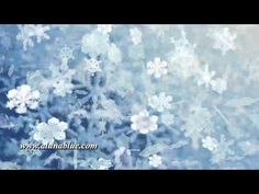 Snowflakes falling (Loop).   Purchase this clip from A Luna Blue:  http://www.alunablue.com/variety-stock-video/shades-of-blue/shades-of-blue-03/clip-02.html   A Luna Blue Stock Video.  Imagery for Your Imagination.  http://www.alunablue.com/stock-video