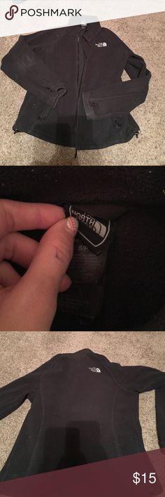 North face zip up jacket worn North face zip up black jacket size small North Face Jackets & Coats