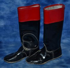 JOCKEY RACING BOOTS EQUESTRIAN DECOR RED & BLACK #Unbranded