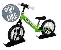 strider bikes - Green Strider with Skies Ski Magazine, Snow Toys, Aircraft Parts, Kids Skis, Balance Bike, Striders, Winter Fun, Cute Photos, Skiing