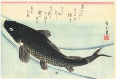 La Carpe par Ando Hiroshige, une des estampes japonaises de la collection Claude Monet