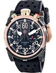 bd34a3ccc9c CT Scuderia Men s Stainless Steel Automatic Watch with Black Rubber Band