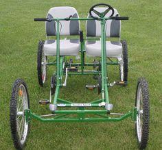 Quadracycle Four-wheel Pedal Bike | Sport Standard 2-Person 4-Wheel Pedal Bike
