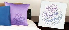 "Urban Threads has released a new embroidery design that you can download for free right now.  It's called ""Always Kiss Me Goodnight""."