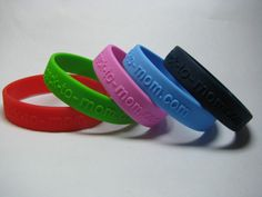 Secbands Pure Silicone wristbands - embossed.