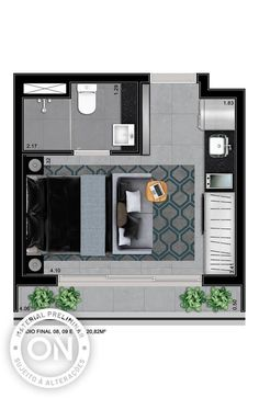Life is on Small Apartment Layout, Studio Apartment Layout, Apartment Design, Studio Apartment Floor Plans, Apartment Plans, Guest House Plans, House Floor Plans, Floor Plan Layout, Tiny House Cabin