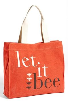 Apple & Bee Organic Cotton Canvas Tote available at #Nordstrom