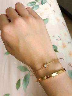 Tiffany & Cos Diamonds by the yard bracelet with Cartier slim love bracelet wris. - Tiffany & Cos Diamonds by the yard bracelet with Cartier slim love bracelet wrist stack. Cartier Bracelet, Cartier Jewelry, Opal Jewelry, Luxury Jewelry, Silver Jewelry, Jewellery, Silver Rings, Hand Jewelry, Stud Earrings