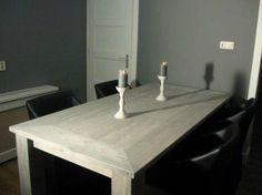 Tafel en meubels Steigerhout greywash/whitewash