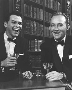 Frank Sinatra and Bing Crosby. High society #bing #sinatra #hollywood