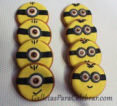Galletas decoradas con la cara de los Minions
