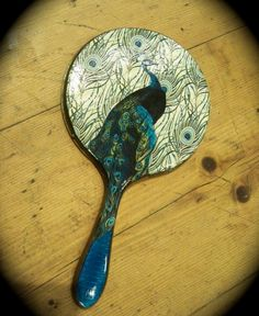 Decoupage Peacock Hand Mirror by PrattsPatch on Etsy