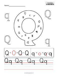 Letter Practice- Q