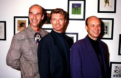 'Artwork For Bosnia' Andrew Logan David Bowie And Brian Eno Music Celebrity Art Show London
