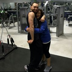 """The Couple that Trains Together Stays Together"". #traintogetherstaytogether #livefit #fitnesscouple #livinginthegym #jointhefitrevolution #finestfitness #patchogue #longisland"