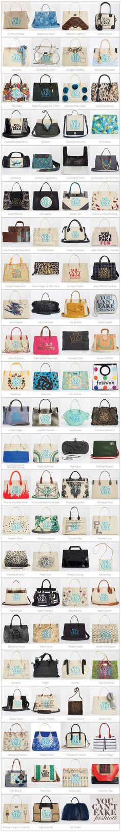 eBay x CFDA limited edition designer totes. #ebayfashion #ycff2013 #youcantfakefashion
