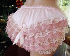 Mmm, what little boy doesn't dream of his mother dressing him in his sister's girlish pink frilly panties? Pretty Lingerie, Bra Lingerie, Nylons, Frilly Knickers, Granny Panties, Girls In Panties, Floral Bikini, I Dress, Cool Girl